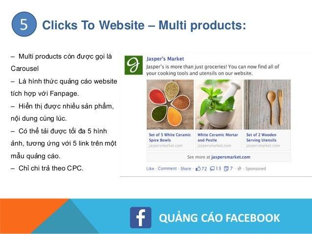 QUẢNG CÁO FACEBOOK Clicks To Website – Dynamic products:6 – Là cách quảng cáo facebook giúp doanh nghiệp giới thiệu catalo...