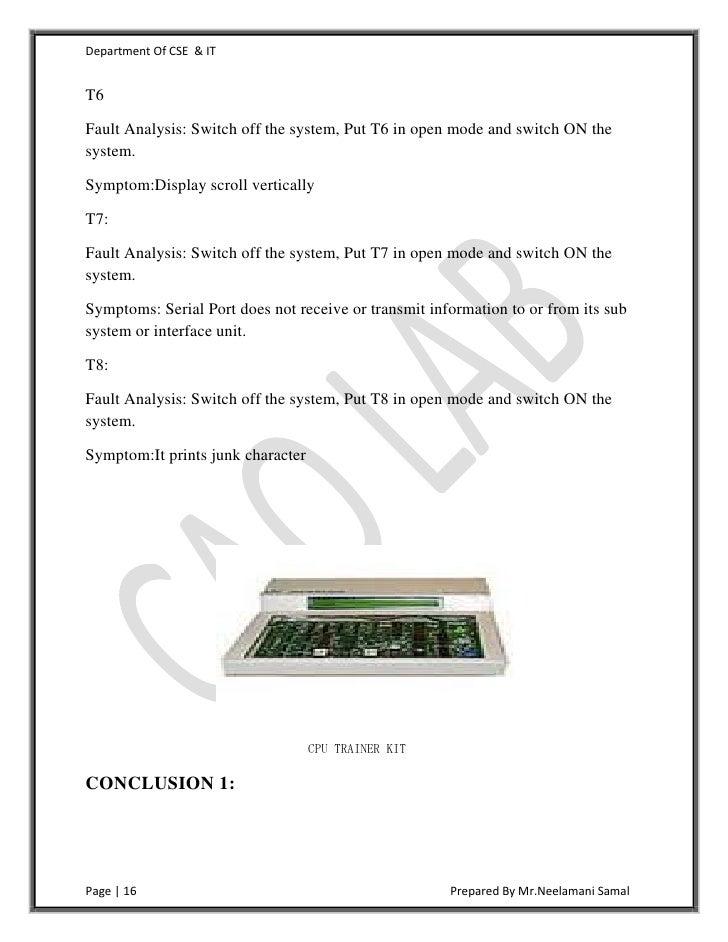 computer architecture lab manual