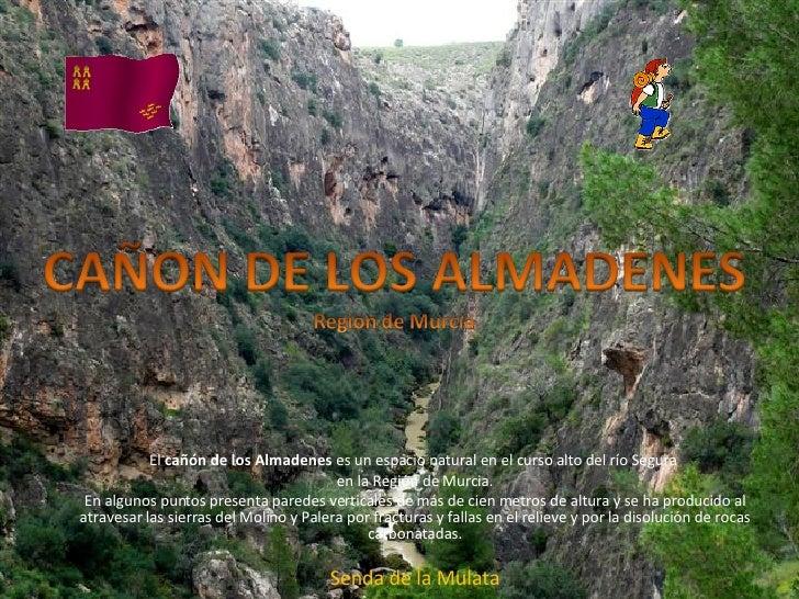 El  cañón de los Almadenes  es un espacio natural en el curso alto del río Segura  en la Región de Murcia. En algunos punt...