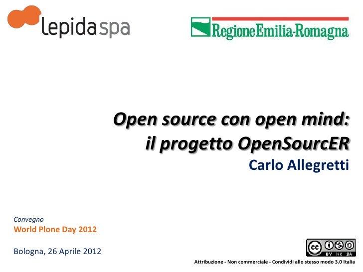 Open source con open mind:                             il progetto OpenSourcER                                            ...