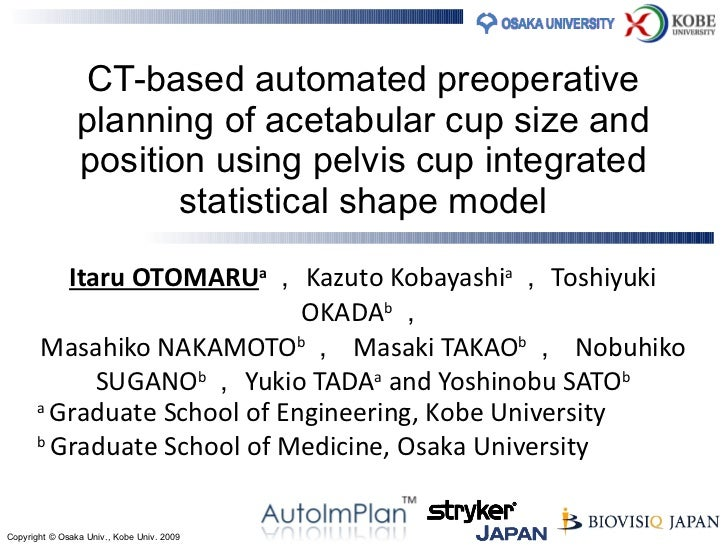 CT-based automated preoperative planning of acetabular cup size and position using pelvis cup integrated statistical shape...