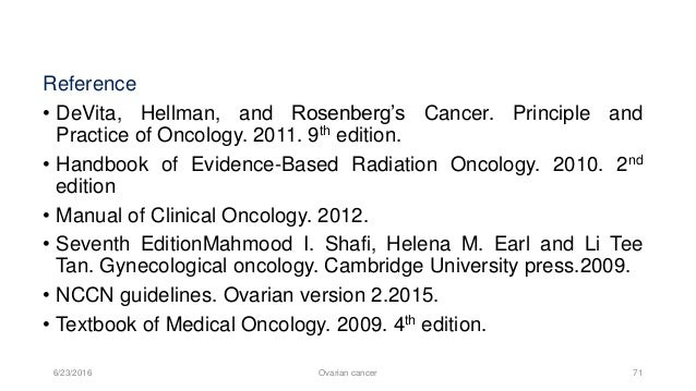 DeVita Hellman and Rosenberg s Cancer Principles & Practice of Oncology