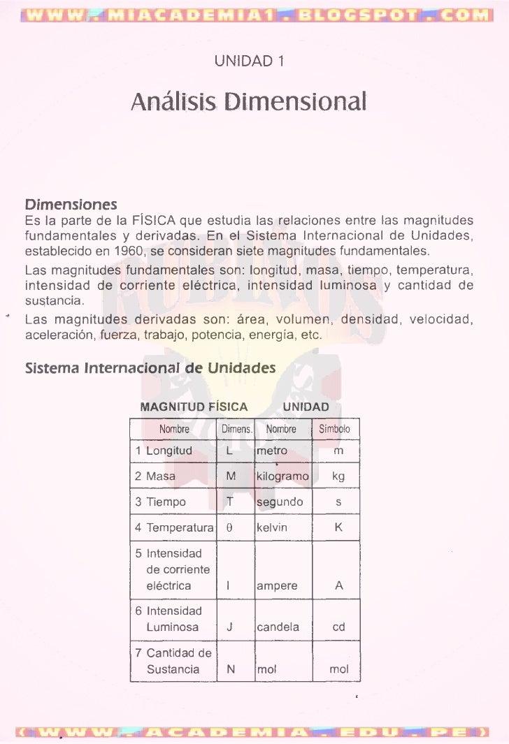 ANÁLISIS DIMENSIONAL (FÍSICA)