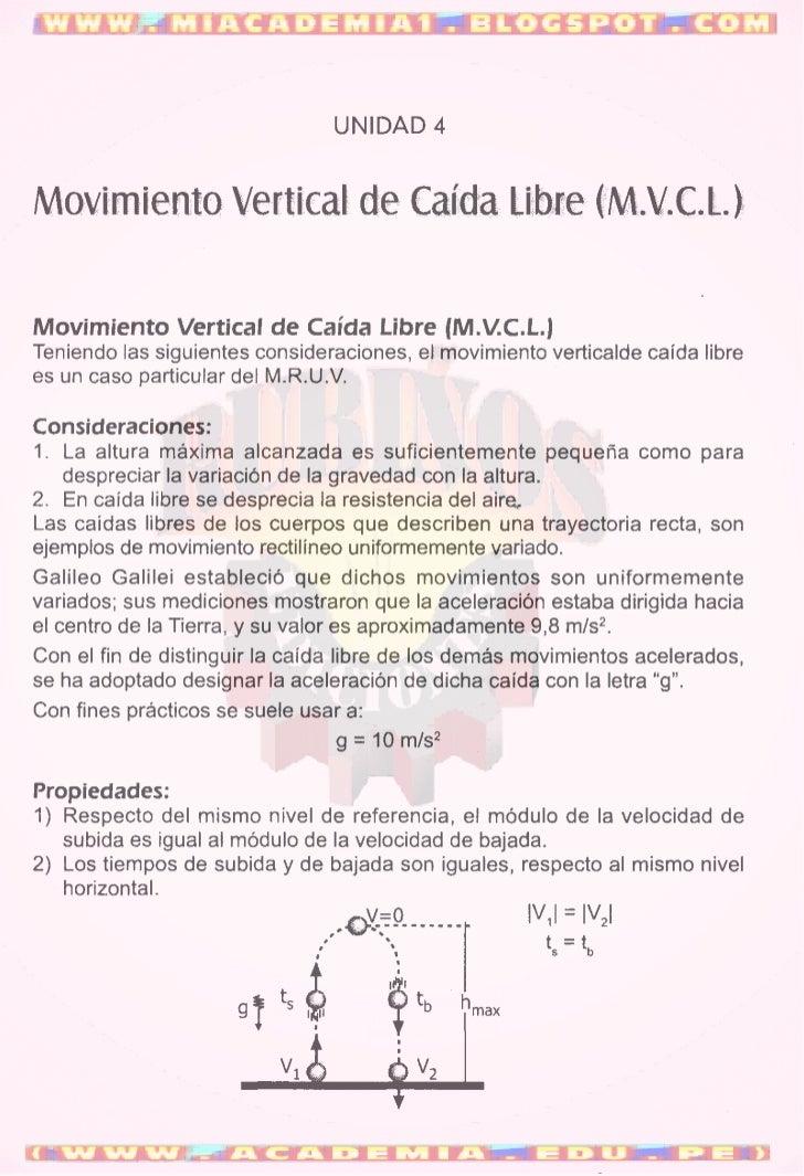 MOVIMIENTO VERTICAL DE CAIDA LIBRE