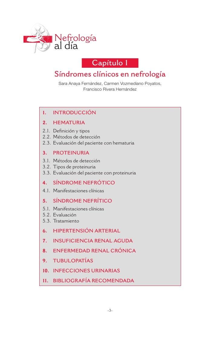 Nefrología     al día              Capítulo 1     Síndromes clínicos en nefrología       Sara Anaya Fernández, Carmen Vozm...