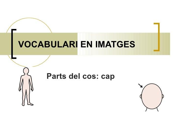 VOCABULARI EN IMATGES Parts del cos: cap