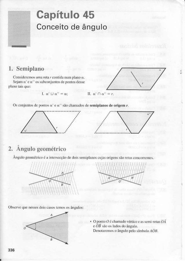 Capítulo45 Conce ito â n g u l o de  r. òemrprano Consideremos uma reta r contidanum pÌanod. se i d mo e o u' s uhc o rl u...