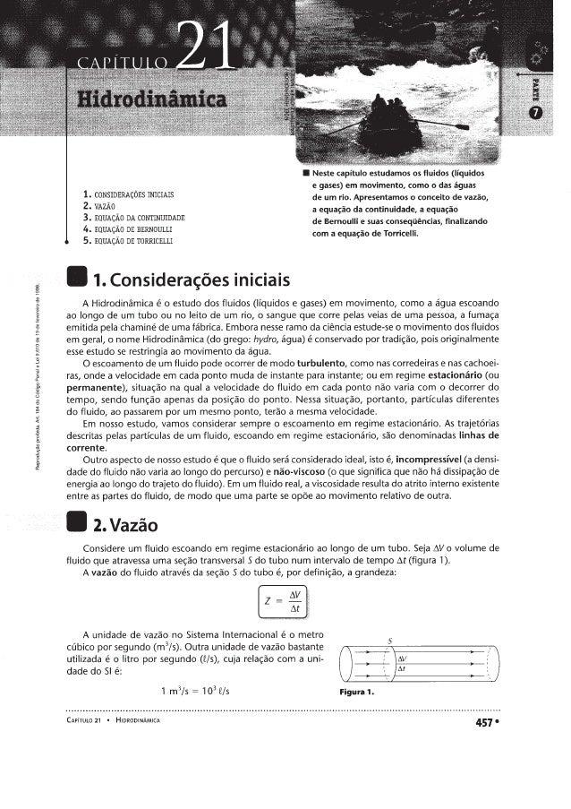 Hidrodinâmica - Fundamentos de Física - Ramalho