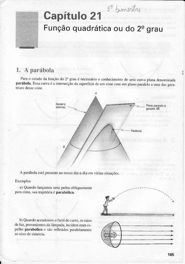 Capítulo21l+al.Lf-Ltv)1.f,ou do 2egrauFunçãoquadrática1. A parábolaPãa o cstudoda tunçãodo 2r gÌàu é necessárioo conhecime...