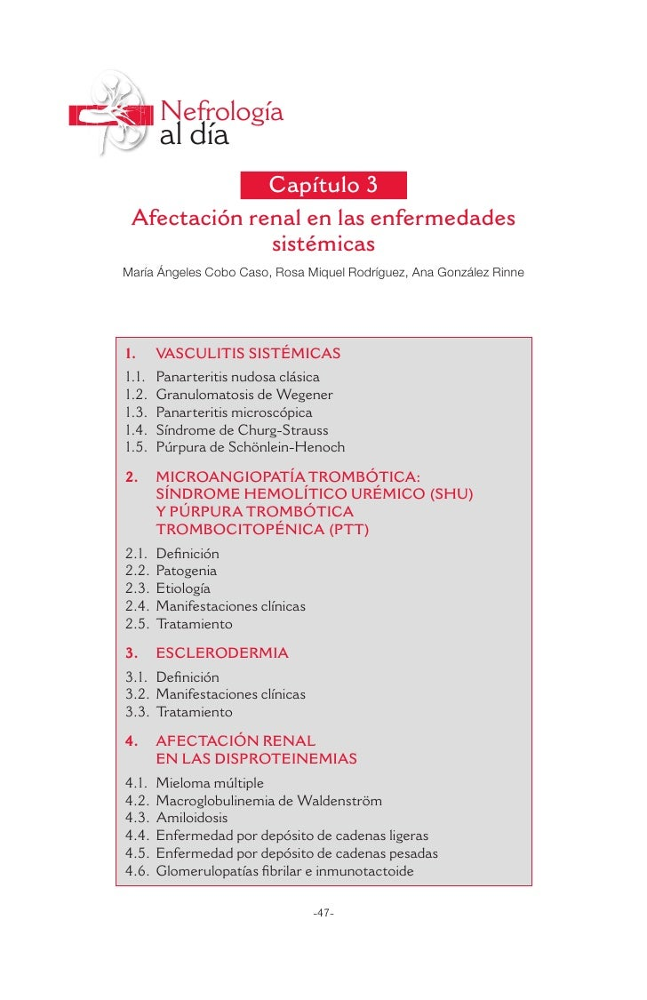 Nefrología       al día              Capítulo 3 Afectación renal en las enfermedades              sistémicasMaría Ángeles ...