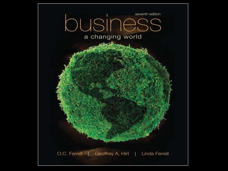 Business in a                    CAPÍTULO 3                    Changing World                    Negocios, en un          ...