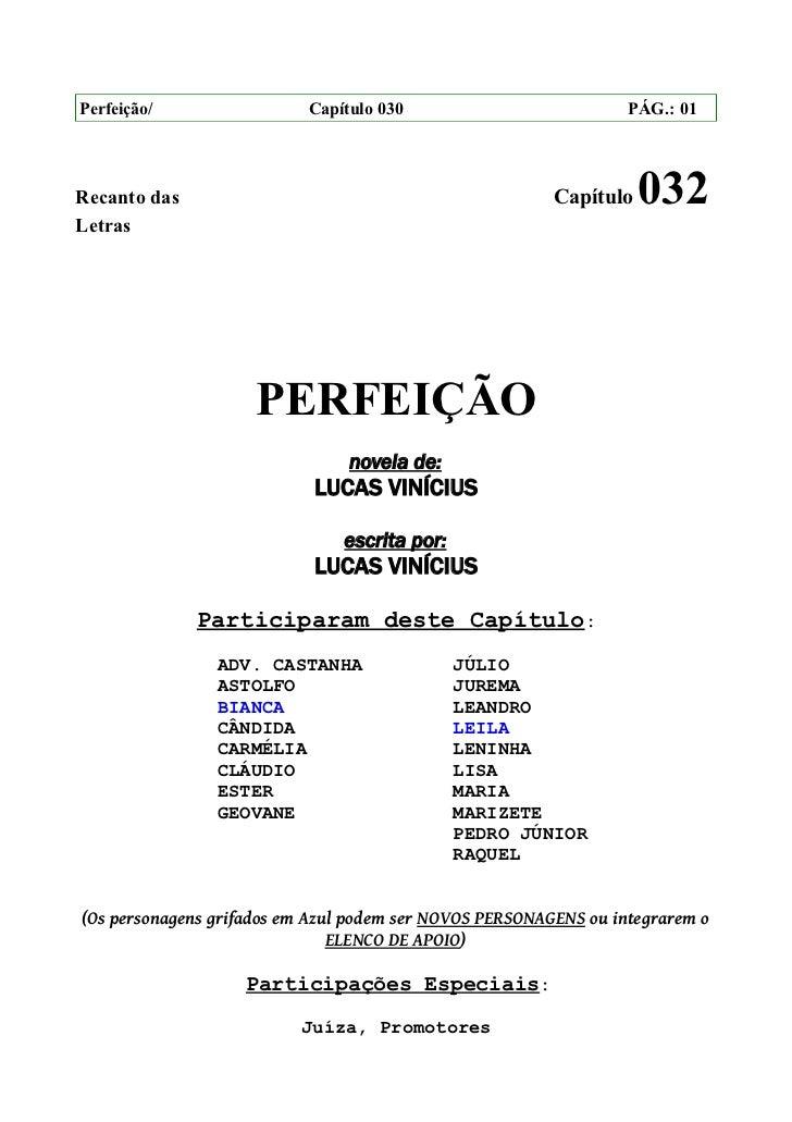 Perfeição/                 Capítulo 030                           PÁG.: 01Recanto das                                     ...