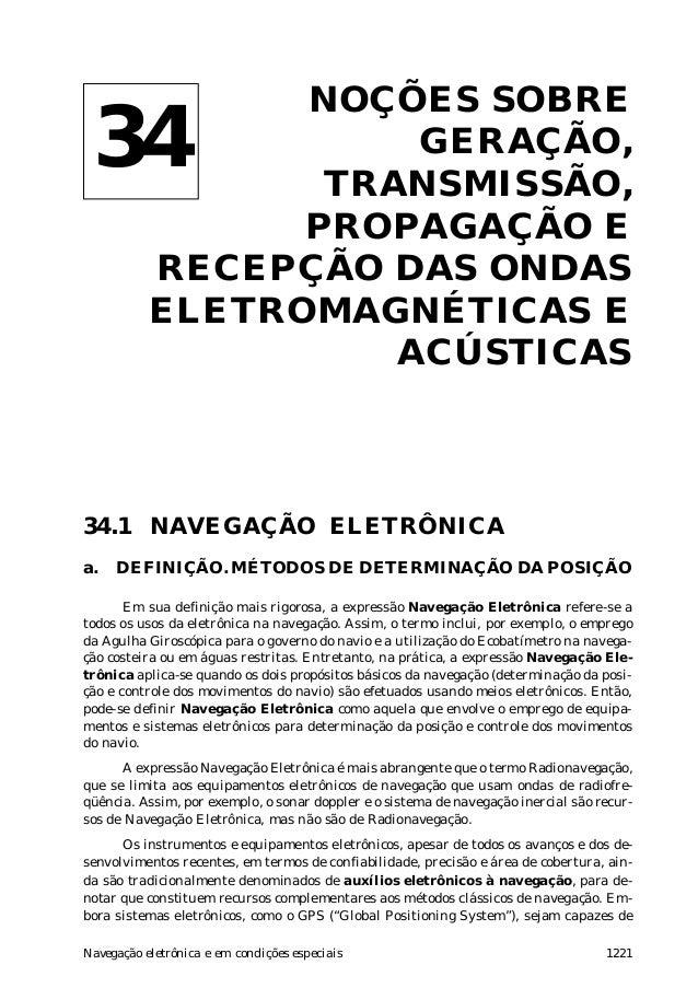 1221Navegação eletrônica e em condições especiais Noções sobre ondas eletromagnéticas e acústicas NOÇÕES SOBRE GERAÇÃO, TR...