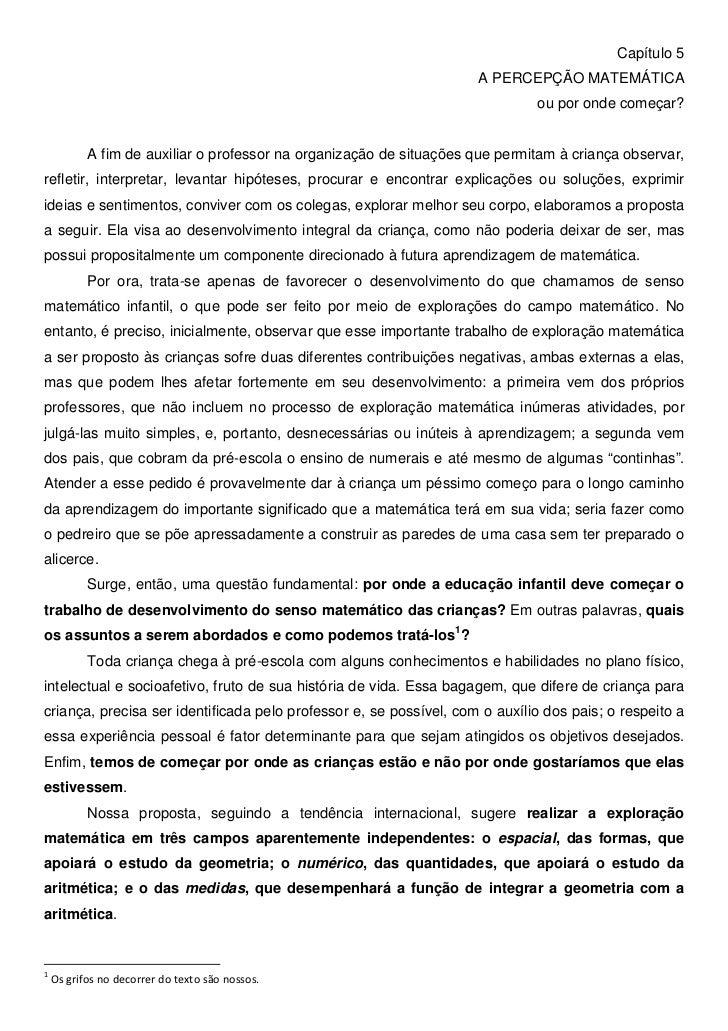 Capítulo 5                                                                     A PERCEPÇÃO MATEMÁTICA                     ...