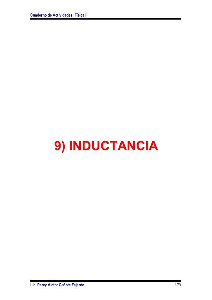 Cuaderno de Actividades: Física II              9) INDUCTANCIALic. Percy Víctor Cañote Fajardo     179