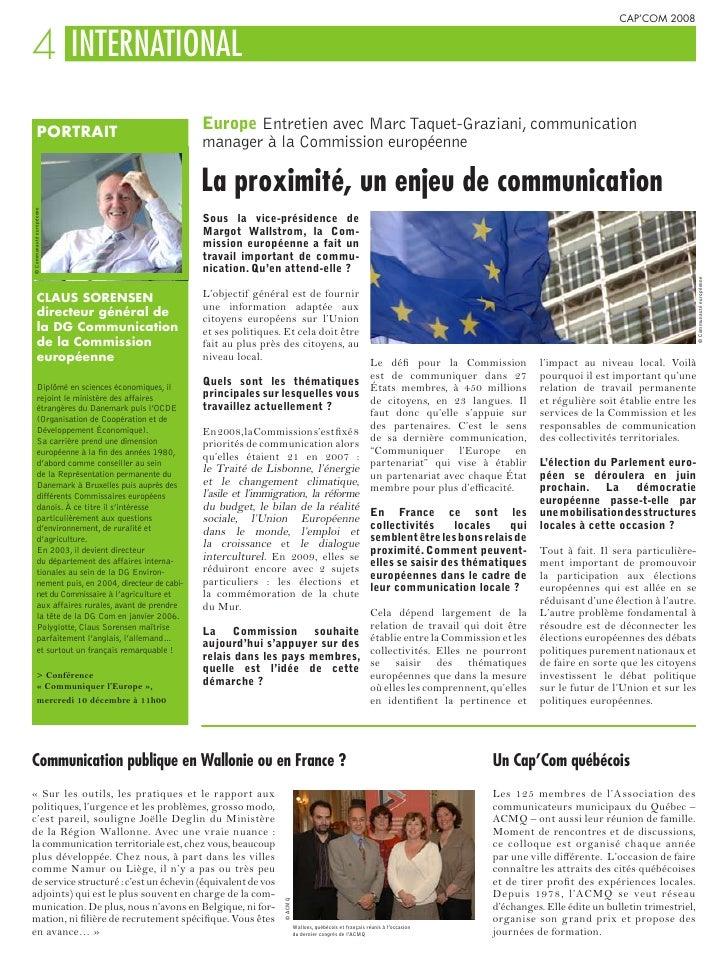 CAP'COM 2008   4 INTERNATIONAL             PORTRAIT                                                        Europe Entretie...