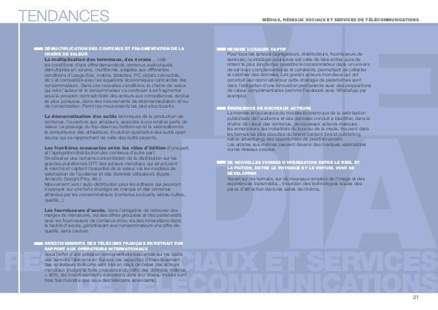 TENDANCES  DÉMULTIPLICATION DES CONTENUS ET FRAGMENTATION DE LA  CHAÎNE DE VALEUR  La multiplication des terminaux, des éc...