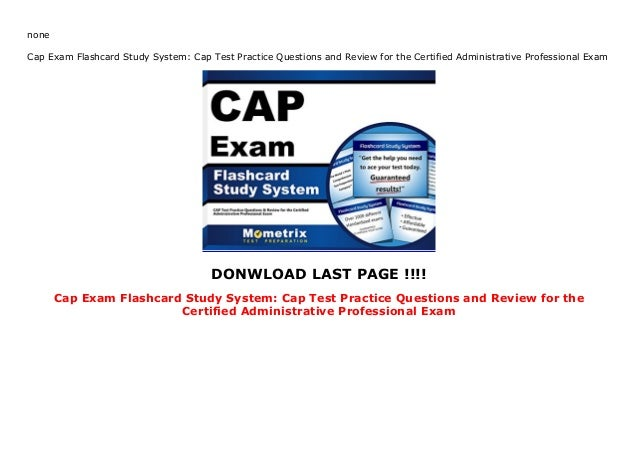 Cap Exam Flashcard Study System: Cap Test Practice Questions and Revi…