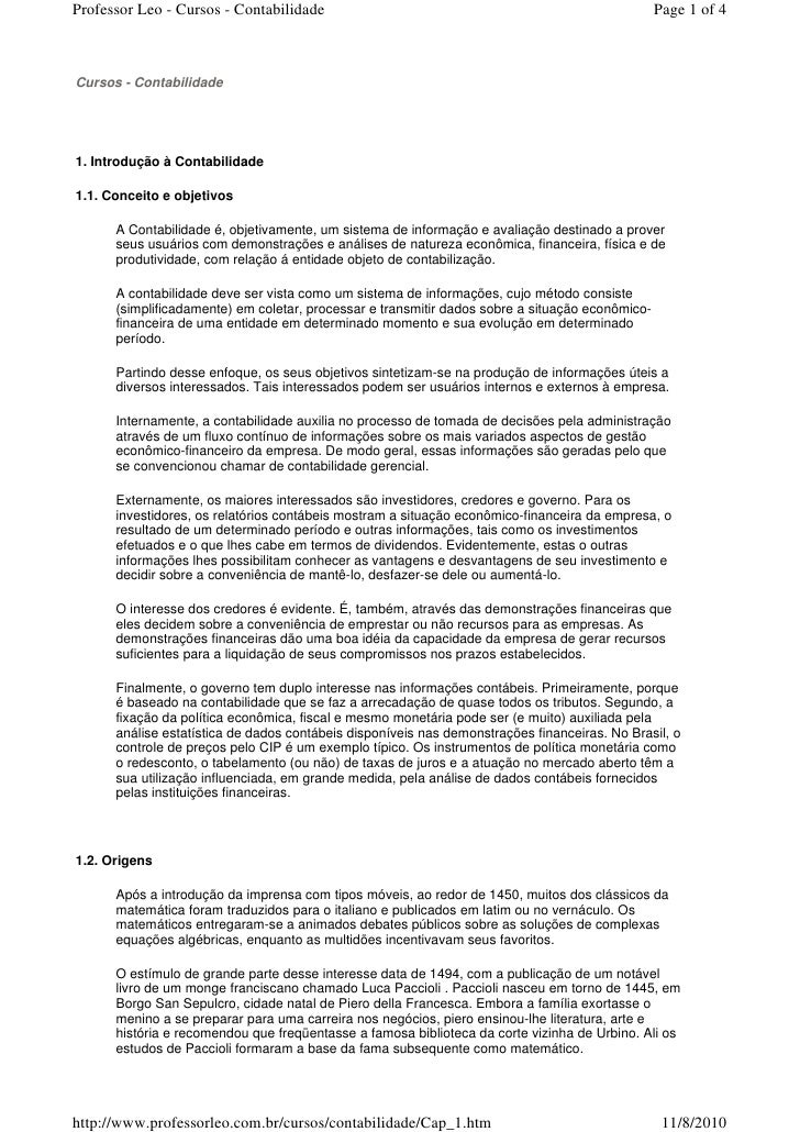 Professor Leo - Cursos - Contabilidade                                                           Page 1 of 4    Cursos - C...