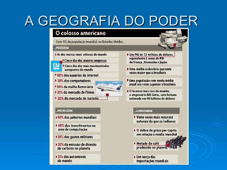 A GEOGRAFIA DO PODER