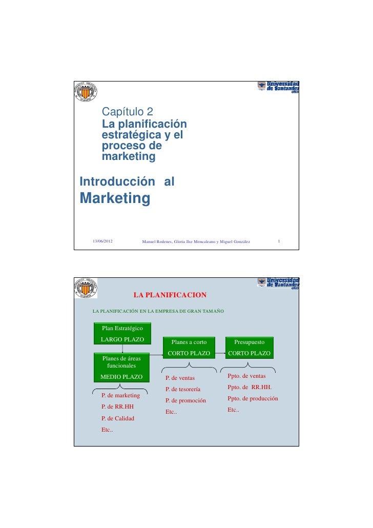 Capítulo 2      La planificación      estratégica y el      proceso de      marketingIntroducción alMarketing  13/06/2012 ...