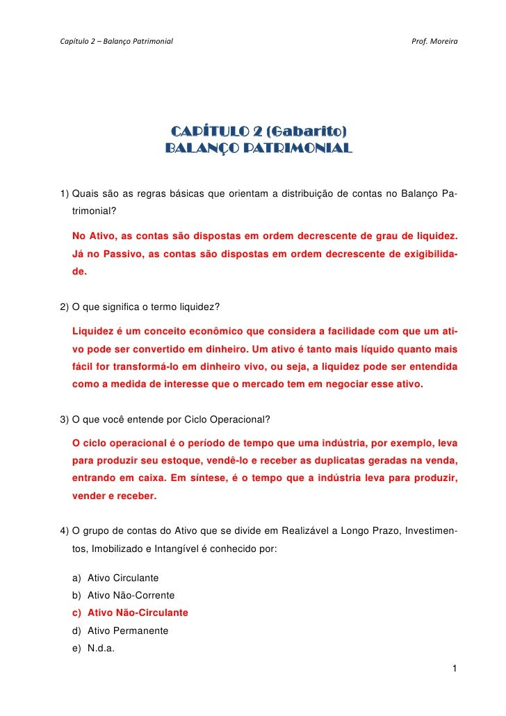 Capítulo2–BalançoPatrimonial                                         Prof.Moreira                                  ...
