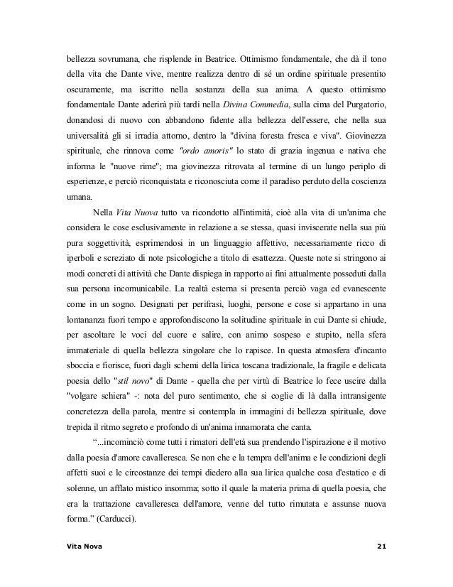 Capitolo 3 la vita nuova - 20 finestre sulla vita di dante ...