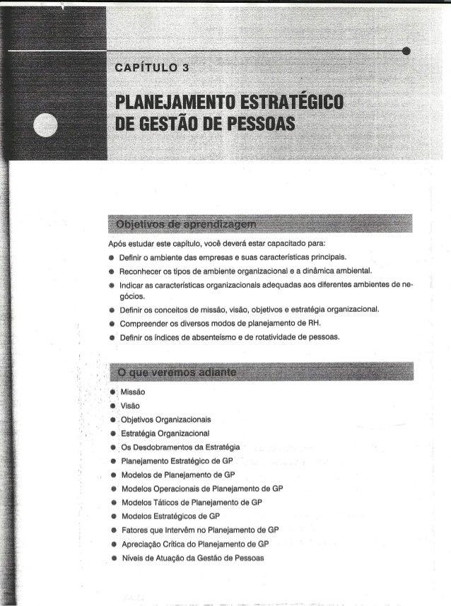 Cap 03   planejamento estrategico de gestão de pessoas