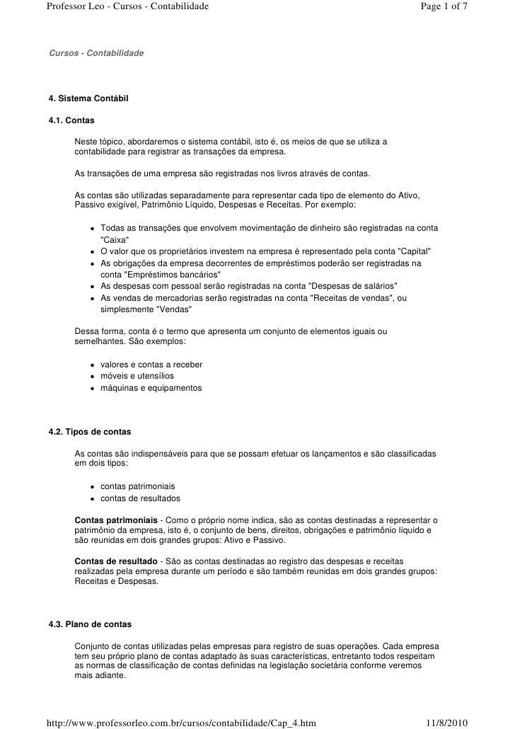 Professor Leo - Cursos - Contabilidade                                                          Page 1 of 7    Cursos - Co...