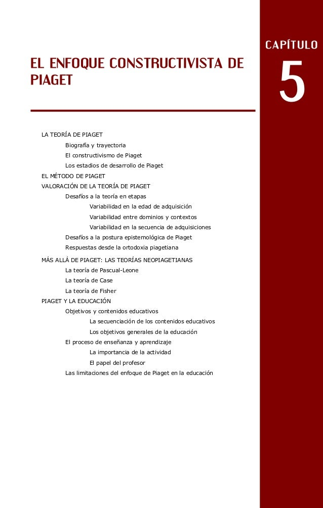 CAPÍTULO                                                                   5EL ENFOQUE CONSTRUCTIVISTA DEPIAGET LA TEORÍA ...