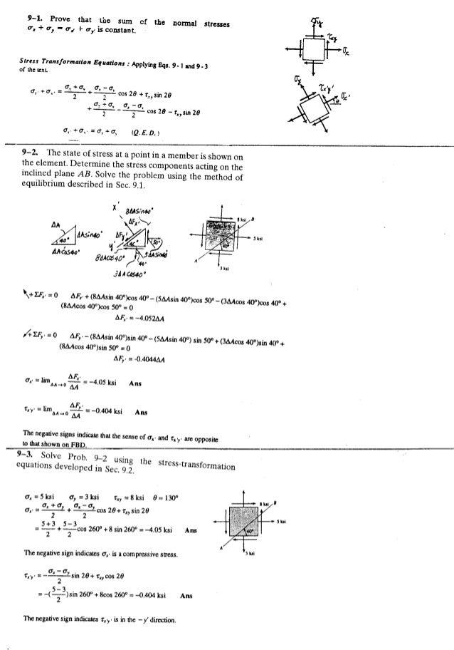 Resistência dos Materiais - Hibbeler 5ª Ed.Cap09 - Exercícios resolvidos