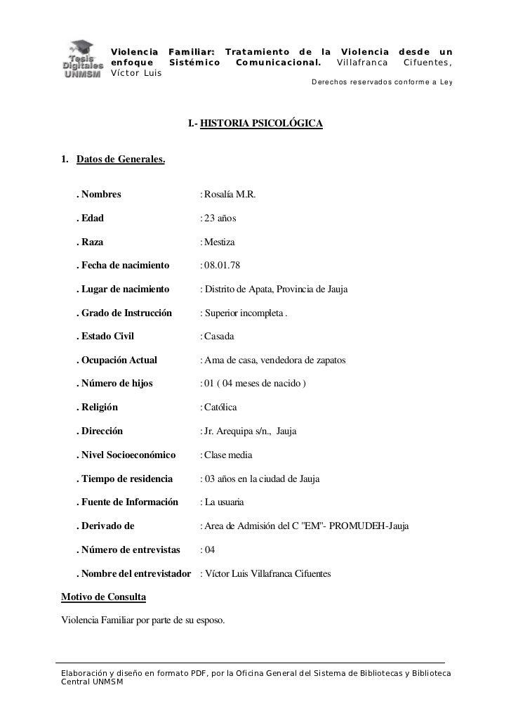 V i o l e n c i a F a m i l i a r : Tratamiento de la Violencia           desde un            enfoque           Sistémico ...