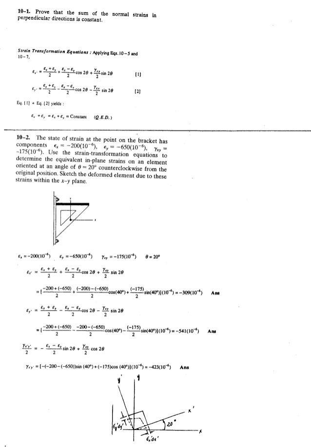 Resistência dos Materiais - Hibbeler 5ª Ed.Cap10 - Exercícios resolvidos