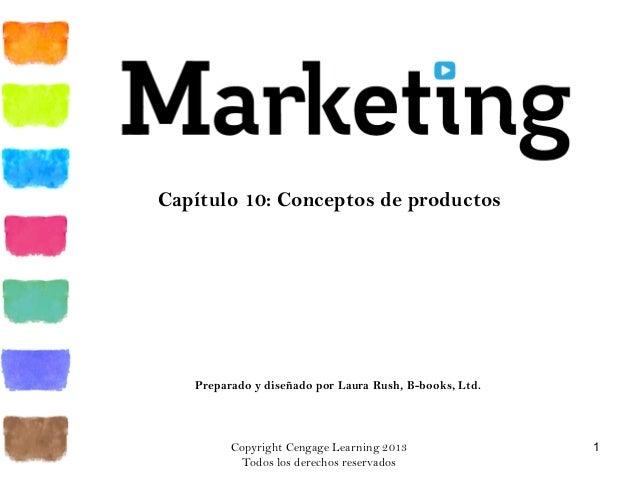 Copyright Cengage Learning 2013 Todos los derechos reservados 1 Capítulo 10: Conceptos de productos Preparado y diseñado p...