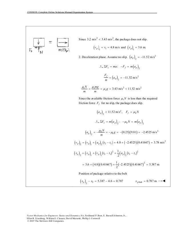 solucionario mecanica vectorial para ingenieros estatica 8 edicion