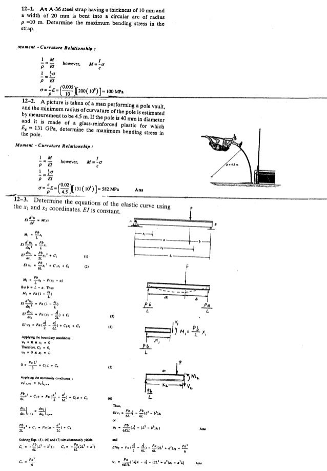 Resistência dos Materiais - Hibbeler 5ª Ed.Cap12 - Exercícios resolvidos