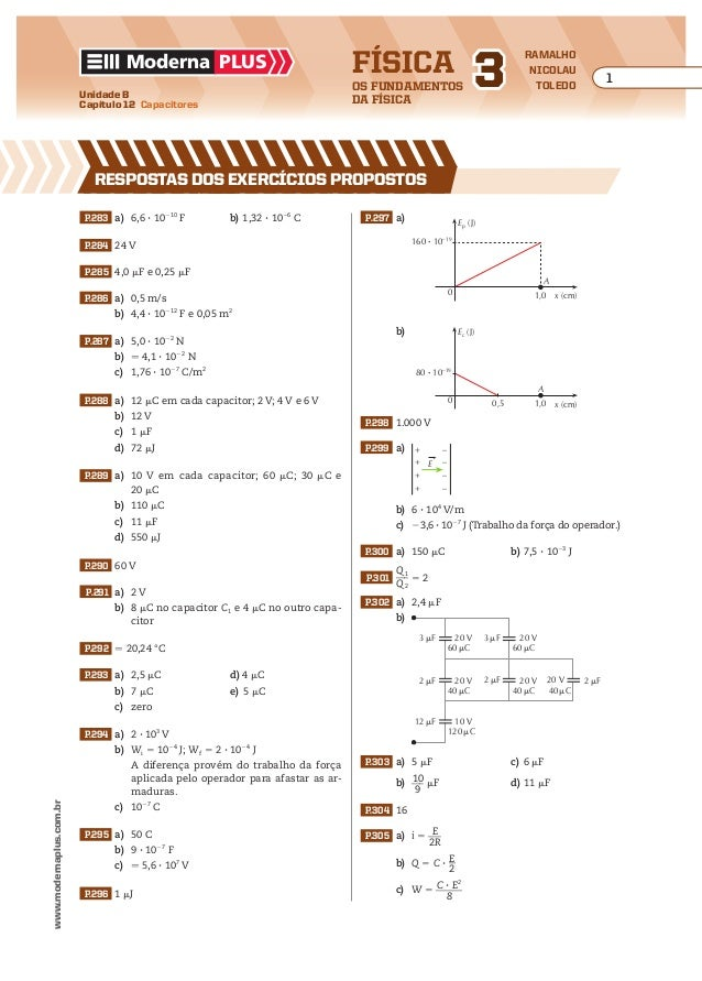 Física os fundamentos da física Moderna plus ramalho nicolau toledo Unidade B Capítulo 12 Capacitores 1 www.modernaplus.co...