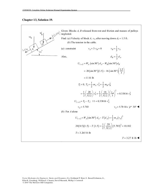 chapter 13 dynamics solution manual