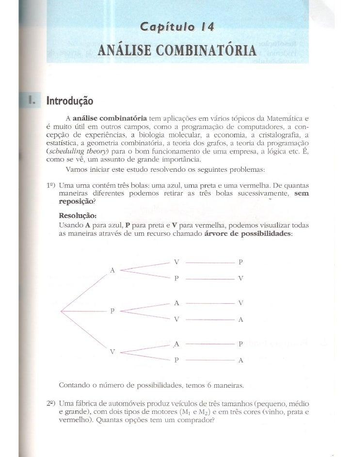 Cap 14   análise combinatória