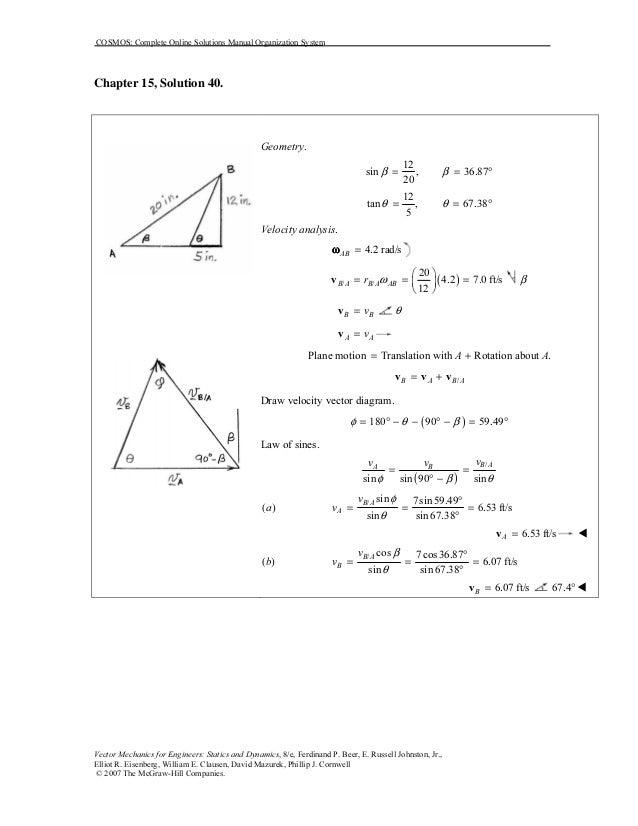 solucionario mecanica vectorial para ingenieros