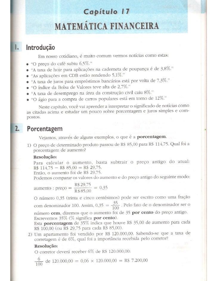 Cap 17   matemática financeira