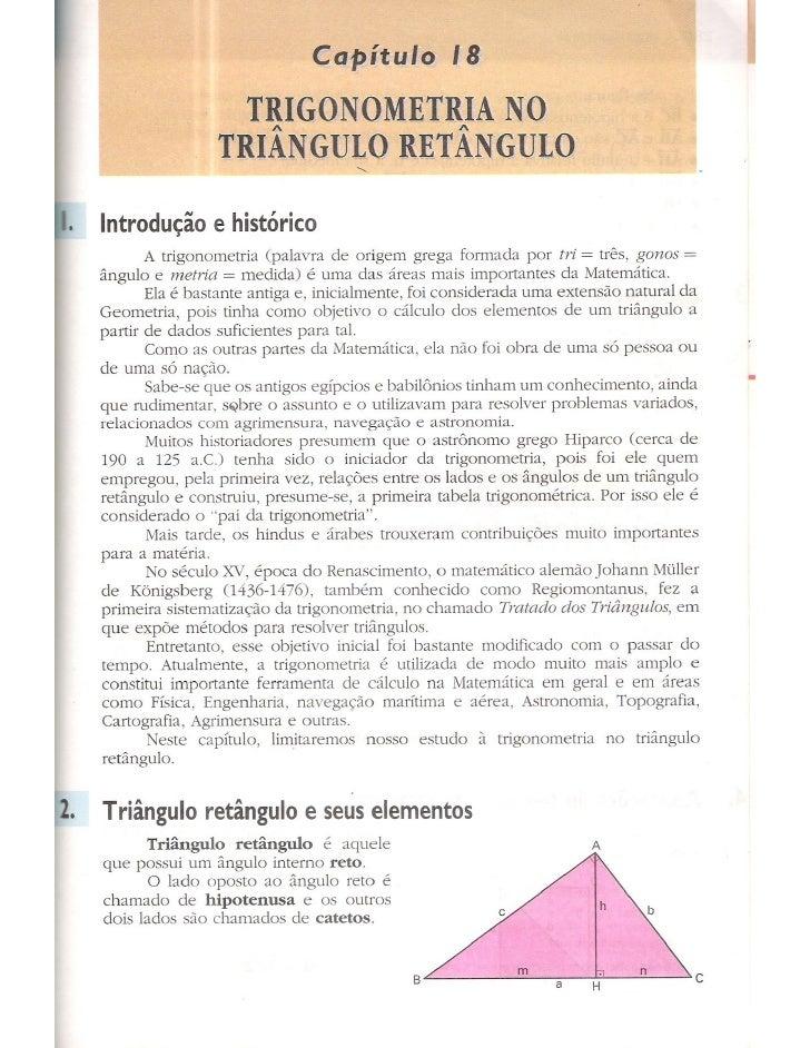 Cap 18   trigonometria no triângulo retângulo