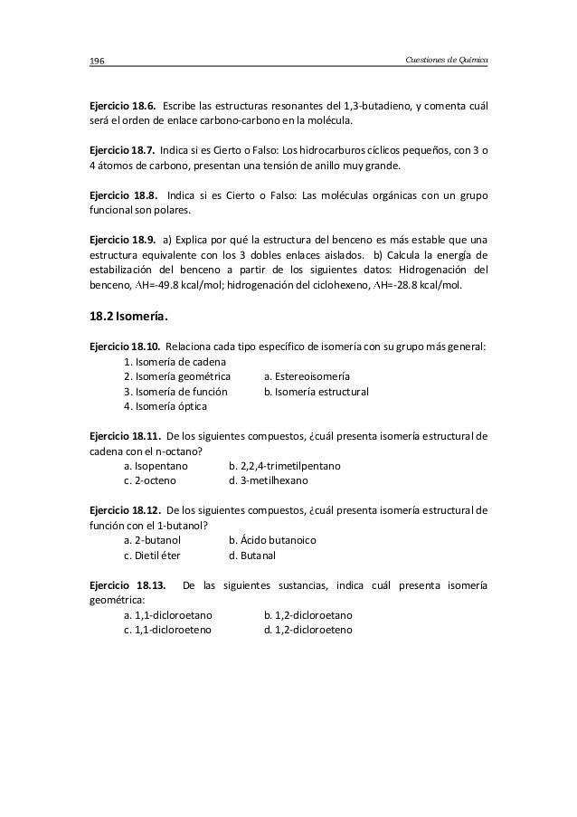 Cuestiones de Química196 Ejercicio 18.6. Escribe las estructuras resonantes del 1,3-butadieno, y comenta cuál será el orde...