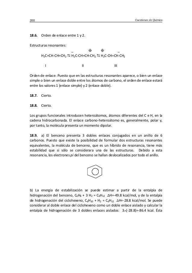 Cuestiones de Química200 18.6. Orden de enlace entre 1 y 2. Estructuras resonantes: _ _ H2C=CH-CH=CH2  H2C-CH=CH-CH2  H2...