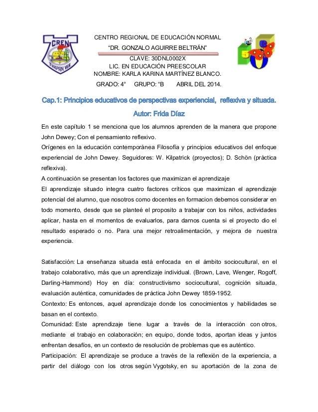 """CENTRO REGIONAL DE EDUCACIÓN NORMAL """"DR. GONZALO AGUIRRE BELTRÁN"""" CLAVE: 30DNL0002X LIC. EN EDUCACIÓN PREESCOLAR NOMBRE: K..."""