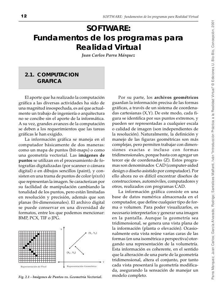 12                                                        SOFTWARE: fundamentos de los programas para Realidad Virtual    ...