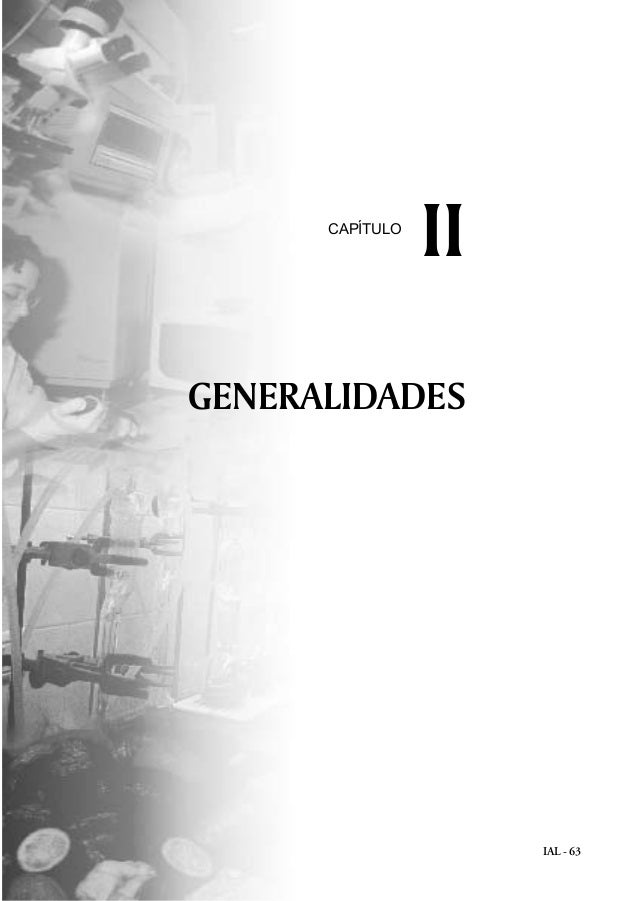 IAL - 63 GENERALIDADES IICAPÍTULO