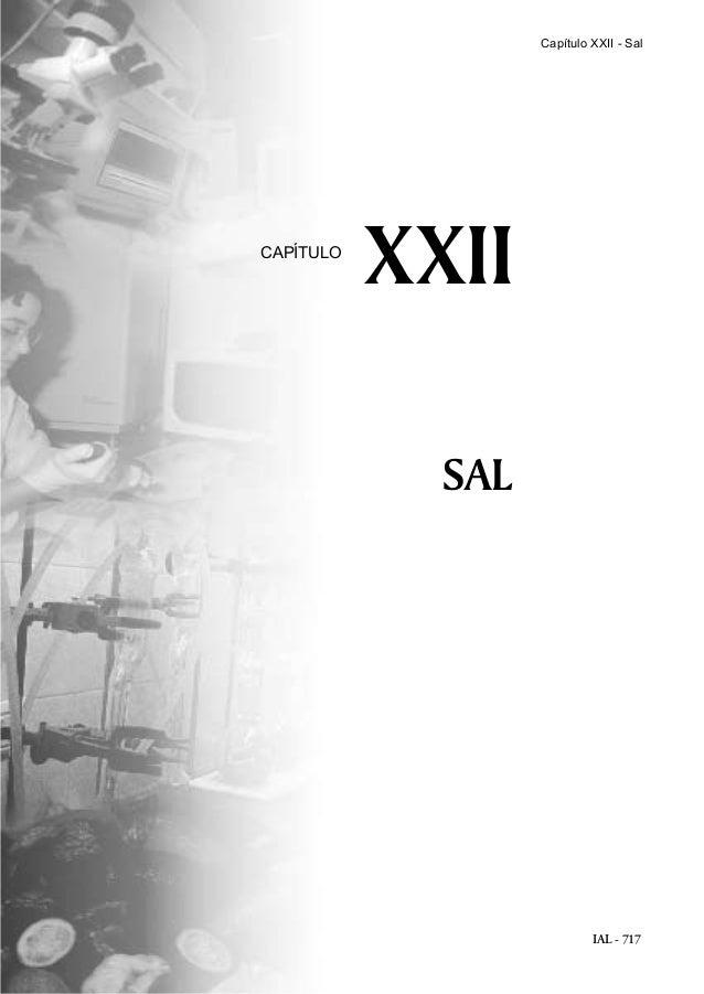 IAL - 717 SAL XXIICAPÍTULO Capítulo XXII - Sal