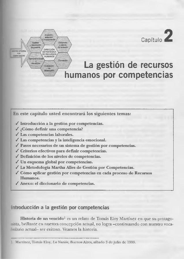 Capítulo  2  La gestión de recursos humanos por competencias  En este capítulo usted encontrará los siguientes temas:  / I...