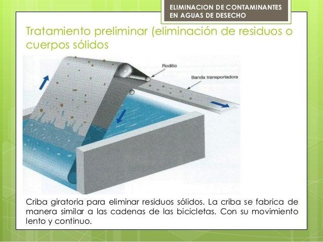 Tratamiento preliminar (eliminación de residuos ocuerpos sólidosCriba giratoria para eliminar residuos sólidos. La criba s...